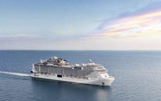 Wintercruise naar de Emiraten met MSC - MSC Bellissima op zee