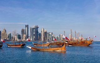 Wintercruise naar de Emiraten met MSC - traditionele Arabische Dhow boten in Doha