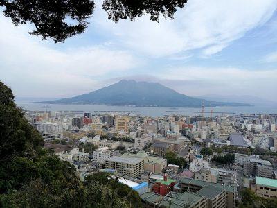 Inspiratiereis Japan - Kagoshima - zicht op de Sakurajima vulkaan