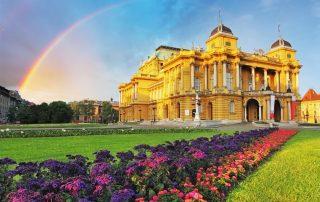 8-daagse schoolreis Kroatië en Slovenië - Nationaal Theater - Zagreb