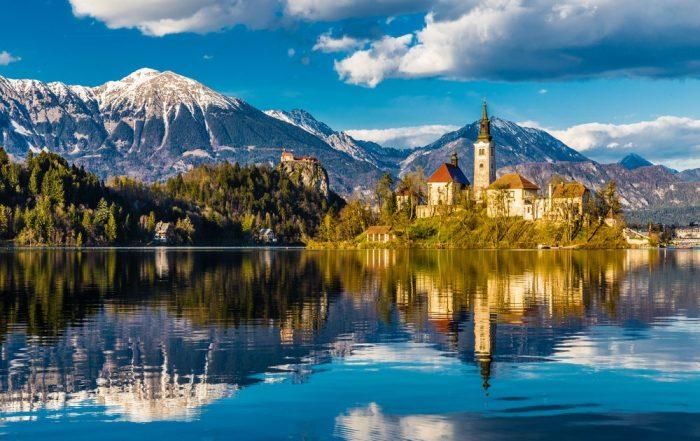 8-daagse schoolreis Kroatië en Slovenië - meer van Bled