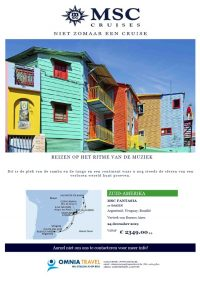 Last Minutes en Promoties - Cruises - MSC Cruises - Kerst- en Nieuwjaarscruise Zuid-Amerika