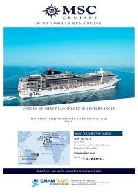 Last Minutes en Promoties - Cruises - MSC Cruises - MSC Grand Voyage van Marseille naar Buenos Aires