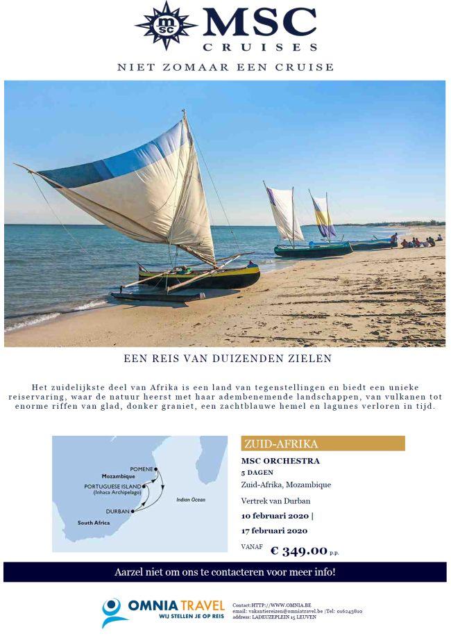 Last Minutes en Promoties - Cruises - MSC Cruises - Zuid-Afrika