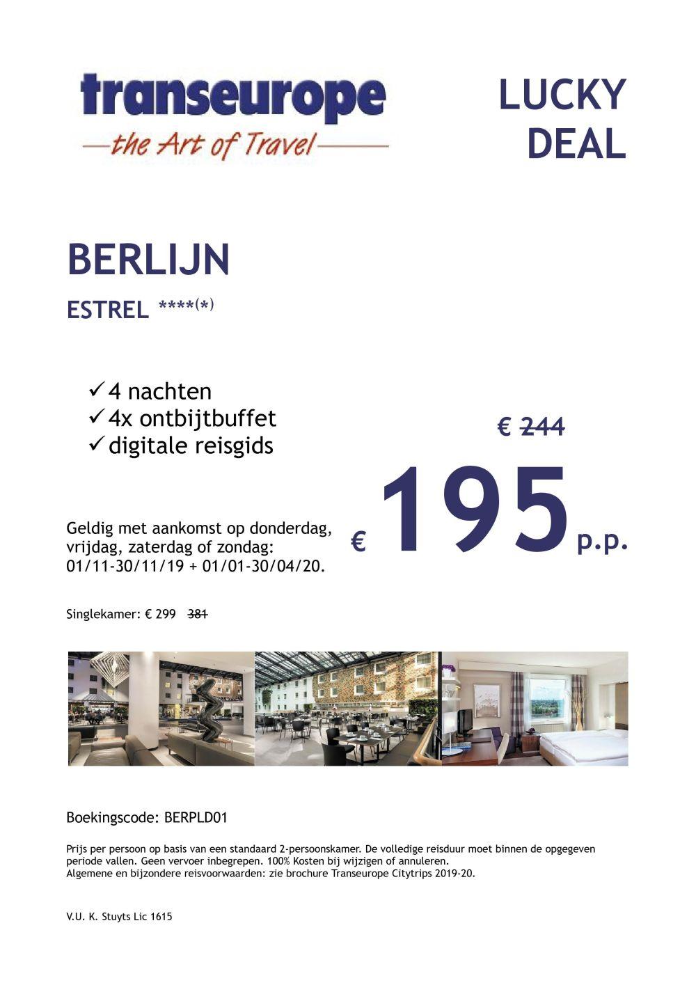 Last Minutes en Promoties - Transeurope - Berlijn