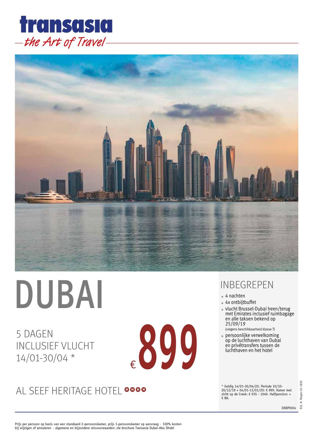 Last Minutes en Promoties - Transeurope - Dubai