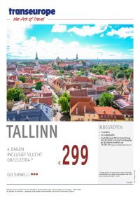 Last Minutes en Promoties - Transeurope - Tallinn