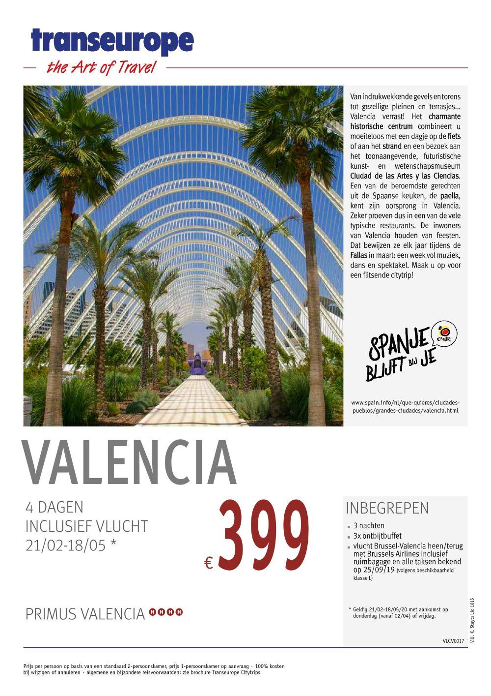 Last Minutes en Promoties - Transeurope - Valencia