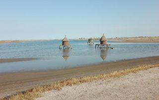 Senegal - Bewaarschuren in de buurt van de désert de Lompoul