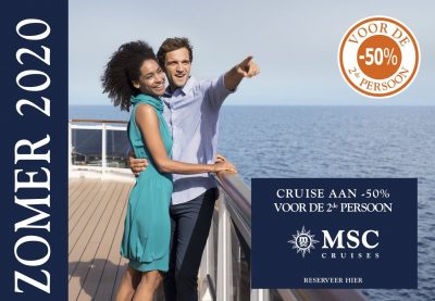 Promotie MSC Cruises - Pre Summer Wave - 2de persoon aan 50 percent