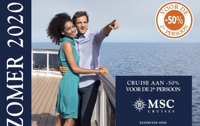 Promotie MSC Cruises - Pre Summer Wave - 2de persoon aan 50 percent