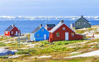 Groenland - kleurrijke huizen