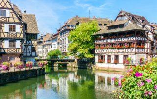 Herbronnen in de Elzas - traditionele huizen - Straatsburg