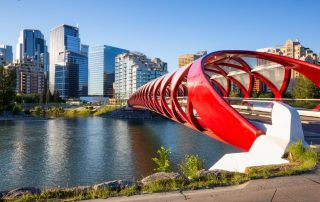 Rondreis West-Canada - Peace Bridge - Calgary