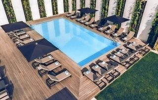 Iberostar Lissabon Spa - luchtfoto van het zwembad