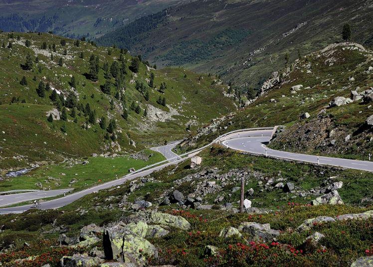 Zwitserland - de Flüelapas - in kanton Graubünden