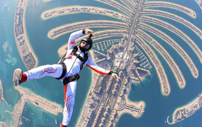 Dubai - Optionele activiteiten - Sky Diving - From the sky