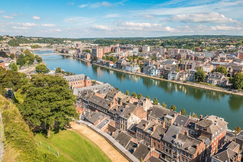 Buitengewone overnachting in Namen - Zicht over de stad vanop de Citadel