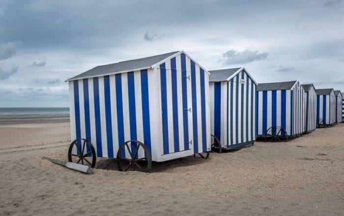 Vakantie aan de Belgische Kust - De Panne - Strandcabines