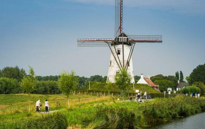 Wandel- en fietsvakanties - Windmolen in de buurt van Damme