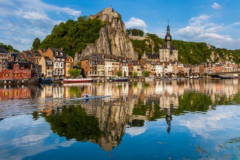 De charme en rust van de Belgische Ardennen - Zicht op Dinant