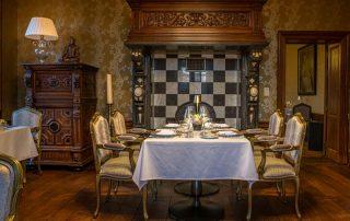 Kasteel van Ordingen - Gedekte tafel in Aurum ©archi-foto.be
